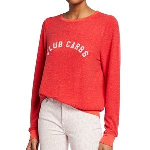 WILDFOX Club Carbs Long Sleeve Vintage Sweatshirt